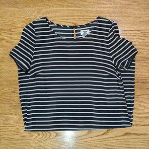 Old Navy Women's Black White Stripes Size S